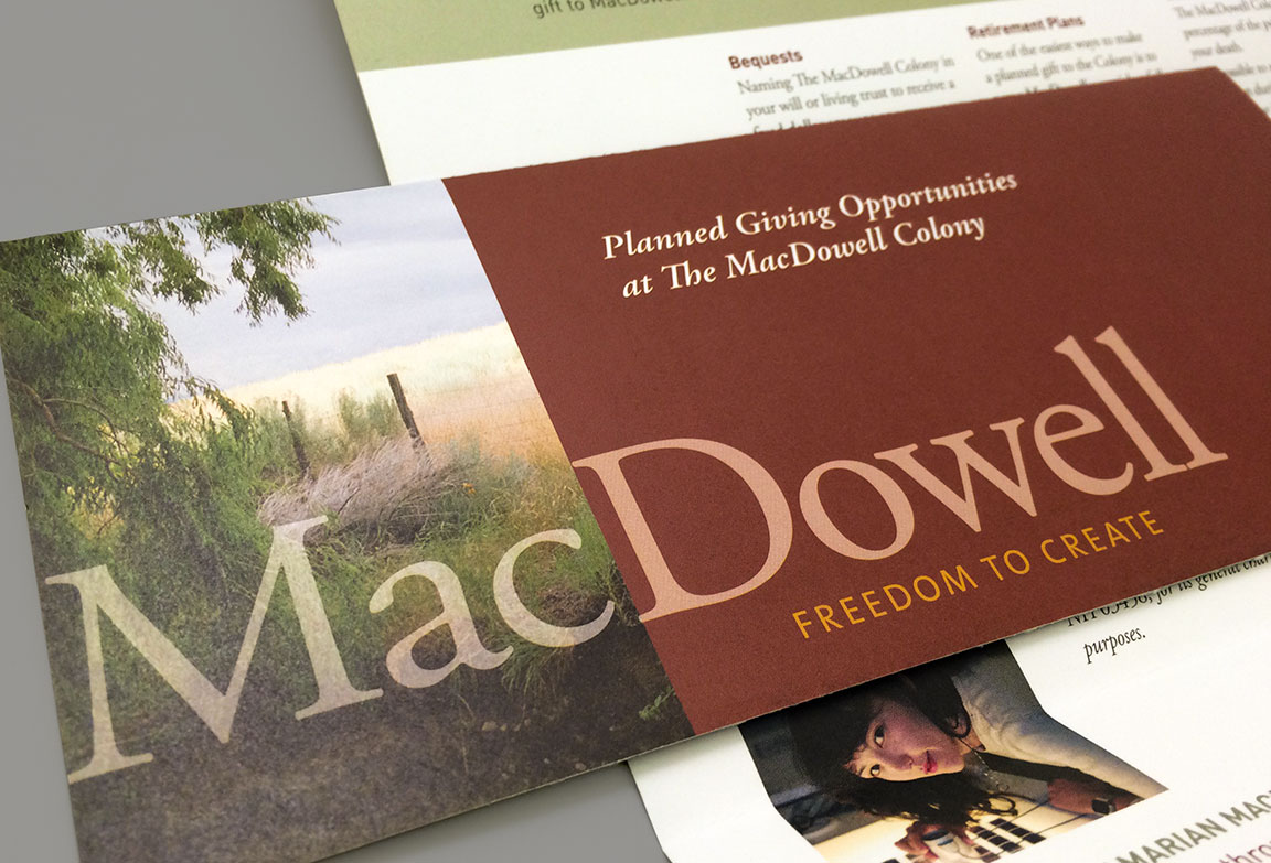 Fundraising materials created for The MacDowell Colony brand identity system