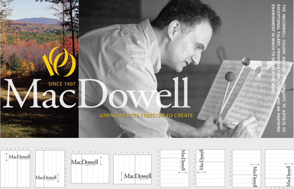 Brand identity system created for The MacDowell Colony