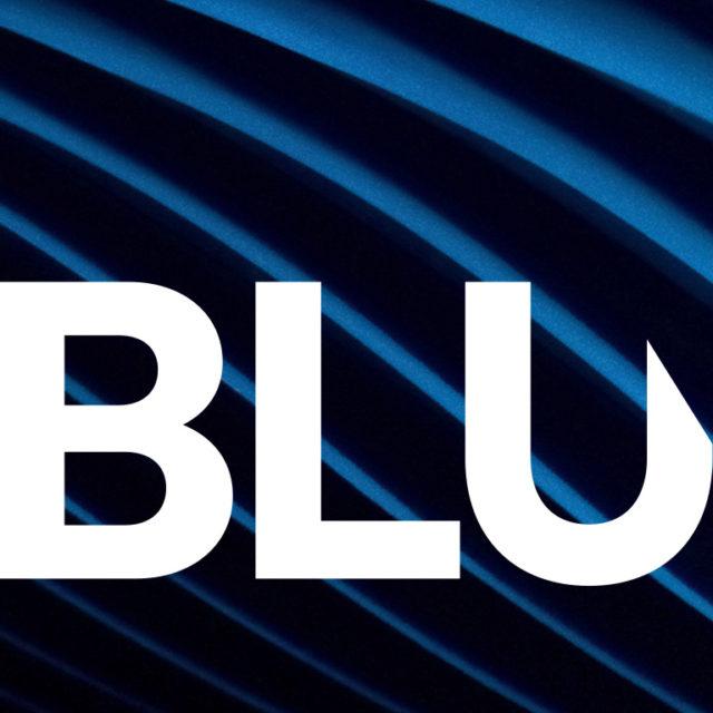 Logo detail of BluEdge company rebranding