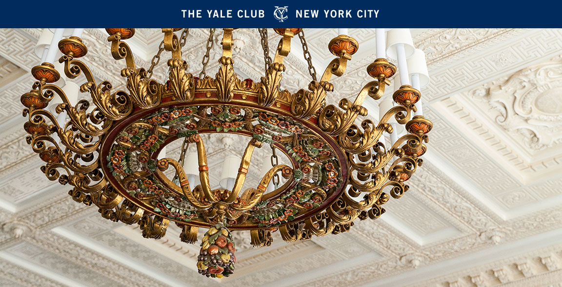 The Yale Club 2016 Annual Report cover image of chandelier