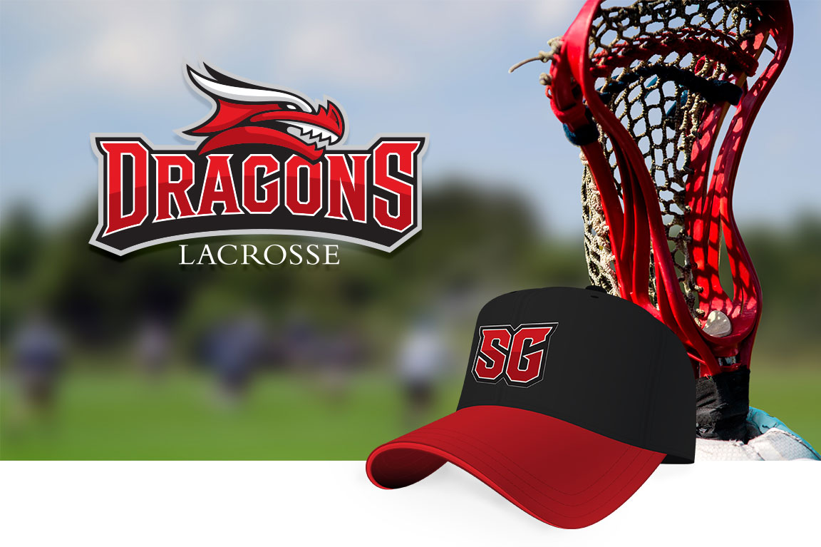 Athletc branding logo for St. George's School lacrosse team