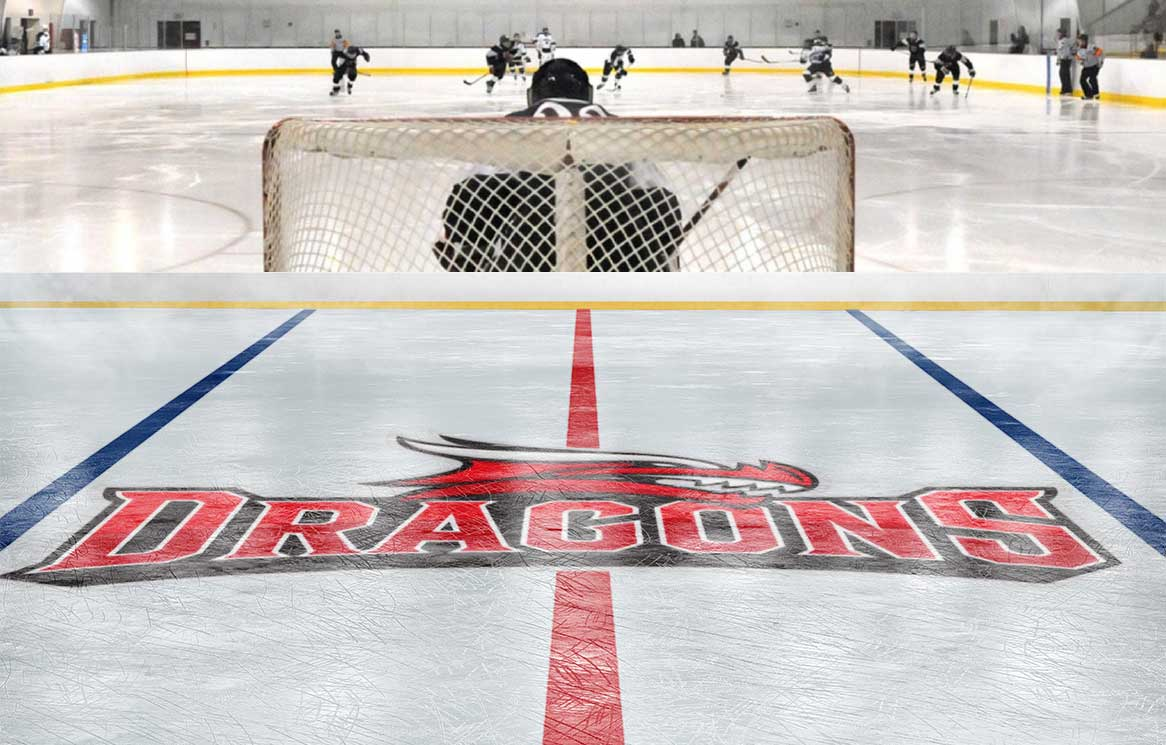 St. George's School's athletic brand on ice hockey rink
