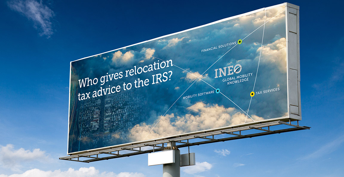 INEO strategic brand development applied to a billboard campaign.