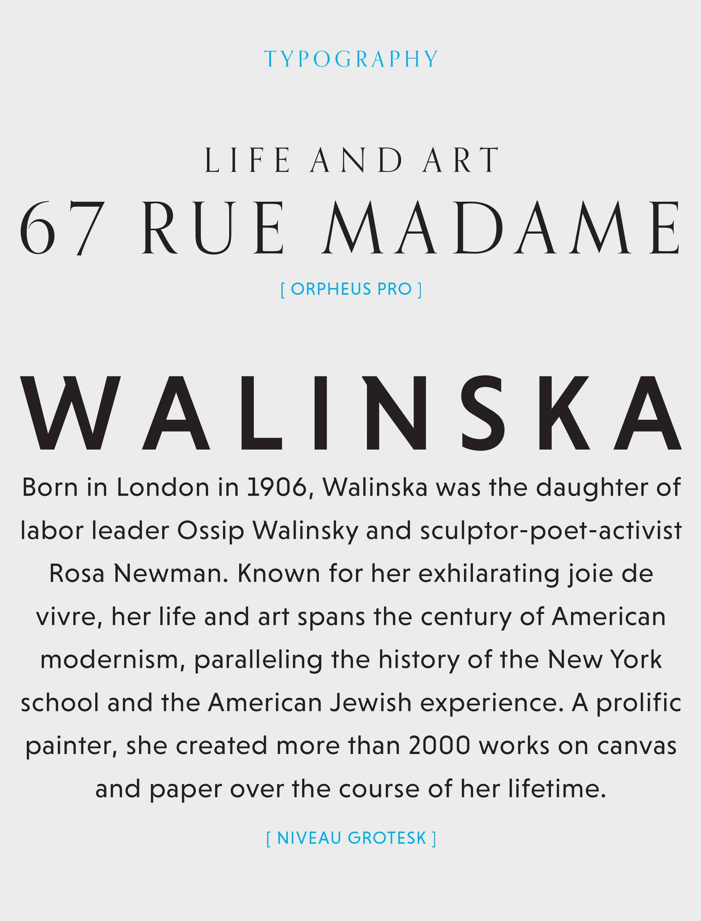 Anna Walinska website design typography
