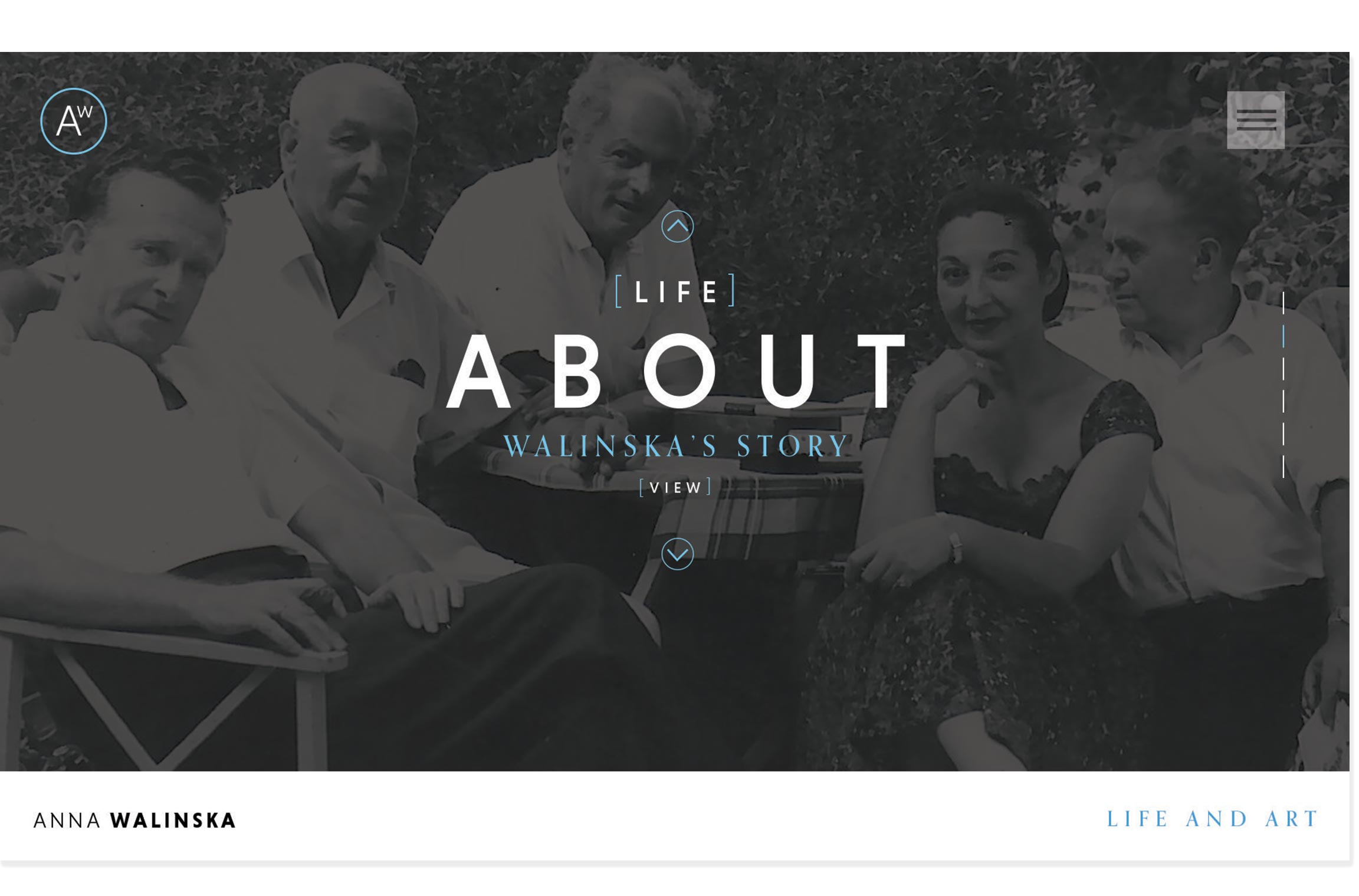 Anna Walinska website design About landing page