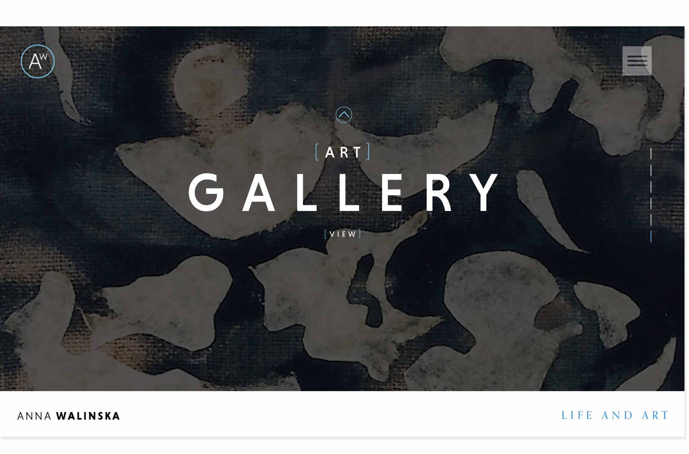 Anna Walinska website design Gallery landing page