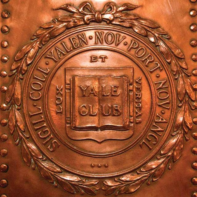 Architectural detail image utilized as part of the graphic system for the private club marketing communications of The Yale Club of New York City.