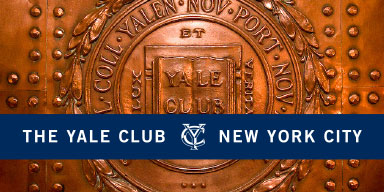 The Penn Club new brand identifier applied to the newsletter as part of the member club branding system.