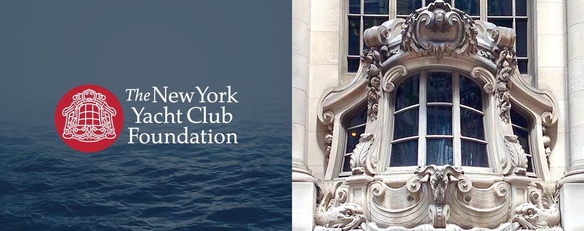 Logo created as part of the rebranding for the nonprofit New York Yacht Club Foundation.