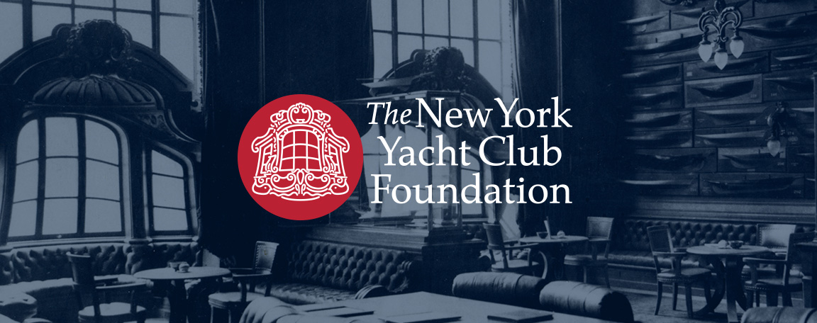 Logo design created as part of the rebranding for the nonprofit New York Yacht Club Foundation.