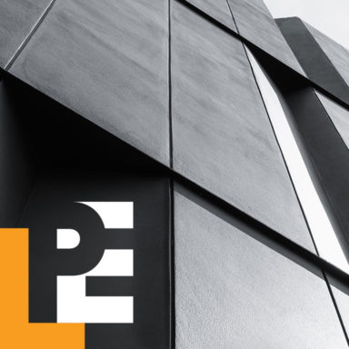 A logo design created for LPE Management Services, which offers owners representation and project management services in the Architecture, Engineering & Construction (AEC) industry.